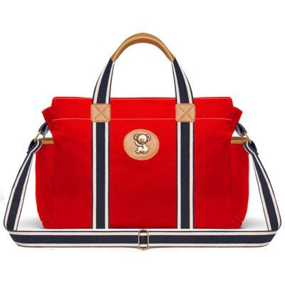 Imagem 3 do produto Bolsa maternidade para bebe + Bolsa passeio + Mochila + Necessaire Adventure em sarja Vermelha - Classic for Baby Bags
