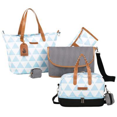 Imagem 1 do produto Bolsa 4 em 1 Sofia + Frasqueira térmica Vicky Manhattan Azul - Masterbag