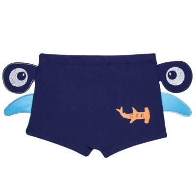 Imagem 4 do produto Conjunto de Banho Tubarão Martelo: Camiseta + Sunga - Cara de Criança - KIT 1 2910: SB2910 + CCA2910 SUNGA BOXER E CAMISETA TUBARAO MARTELO-2