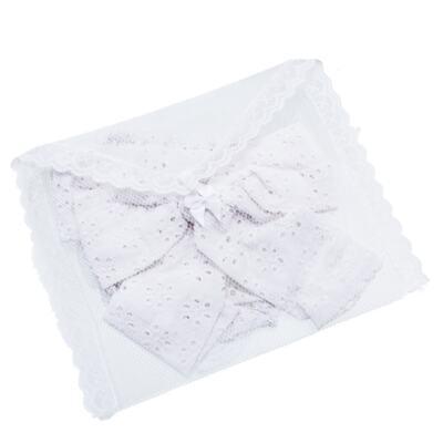 Imagem 4 do produto Conjunto de banho para bebê Coração & Pérolas: Bumbum + Faixa de Cabelo - Roana - BASTL927001 BANHO DE SOL TURBANTE LUXO 125 BRANCO-P