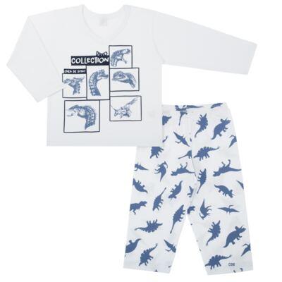 Imagem 1 do produto Pijama longo em malha Dinossauros - Cara de Sono - L3490 PIJAMA LONGO MALHA DINOS-6