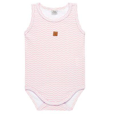 Imagem 1 do produto Body regata para bebe em suedine Ovelhinha Rosa - Petit - 01194344 BODY REGATA AVULSO SUEDINE OVELHA FEM-RN