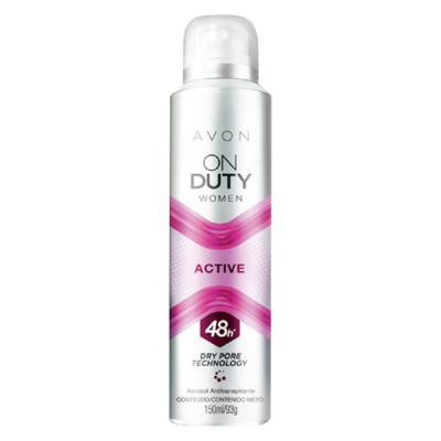 Imagem 1 do produto Desodorante Aerossol Antitranspirante On Duty Women Active - 150ml -