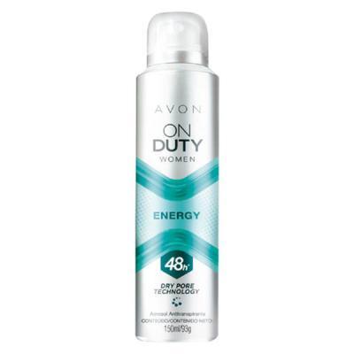 Desodorante Aerossol Antitranspirante On Duty Women Energy - 150ml