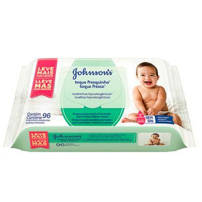 Imagem 1 do produto Toalhas Umedecidas Johnson Baby - Toque Sequinho - 96 Un