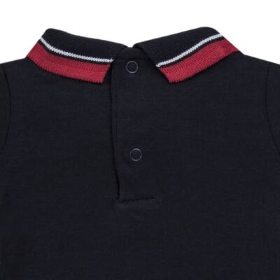 Imagem 3 do produto Body Polo longo em cotton touch Marinho - Mini Sailor