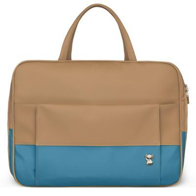 Imagem 2 do produto Mala Maternidade para bebe + Bolsa Genebra + Frasqueira Térmica Zurique + Trocador Portátil Due Colore Turquesa - Classic for Baby Bags
