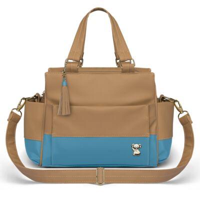 Imagem 4 do produto Mala Maternidade para bebe + Bolsa Genebra + Frasqueira Térmica Zurique + Trocador Portátil Due Colore Turquesa - Classic for Baby Bags