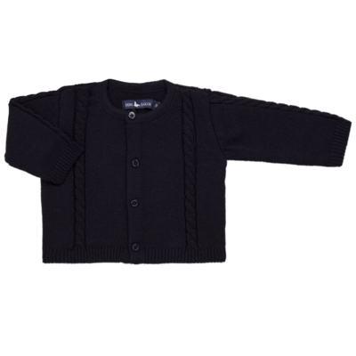 Imagem 5 do produto Macacão Pulôver c/ Casaquinho  para bebe em tricot Navy - Mini Sailor - 17994262 CASACO C/ JARDINEIRA TRICOT MARINHO -6-9