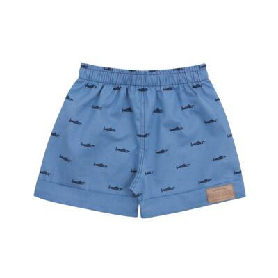 Imagem 3 do produto Camiseta Polo com Bermuda para bebe Maritime Company branca - Time Kids - TK5110.BC CONJUNTO CAMISETA C/SHORTS BRANCO/AZUL-P