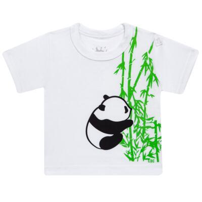 Imagem 2 do produto Conjunto de Banho para bebe  Pandite: Camiseta + Sunga - Cara de Criança - KIT 1 2530: SBB2530+CCAB2530 SUNGA E CAMISETA BB PANDA-P