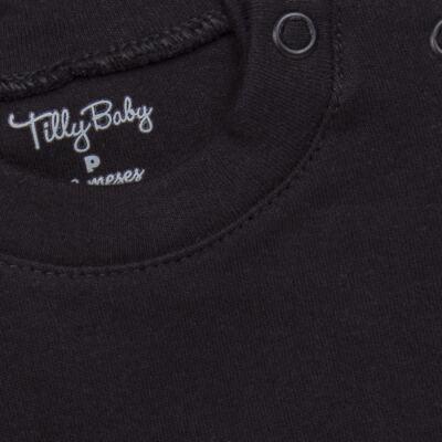 Imagem 2 do produto Body longo para bebe em suedine Preto - Tilly Baby - TB13111.08 BODY LONGO DE SUEDINE PRETO-RN