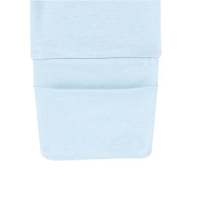 Imagem 2 do produto Calça (mijão) para bebe em suedine Azul - Mini Sailor - 83024265 MIJAO PE REVERS AVULSO SUEDINE AZUL BEBE -0-3