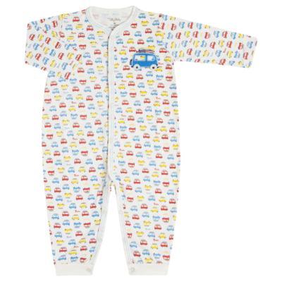 Imagem 1 do produto Macacão longo para bebe em malha Carrinhos - Tilly Baby - TB16833 MACACAO ML MASC CARRINHOS-M