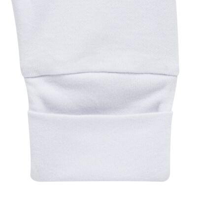 Imagem 5 do produto Pack 2 mijões com pé reversível para bebe em algodão egípcio c/ jato de cerâmica Nature Little Friends - Mini & Classic - 1025650 PACK 2 MIJOES PE REVERSIVEL SUEDINE NATURE-RN