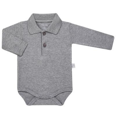 Imagem 1 do produto Body Polo longo para bebe em suedine Mescla - Tilly Baby - TB13102.06 BODY POLO MANGA LONGA MESCLA-GG