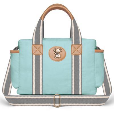Imagem 3 do produto Bolsa Maternidade para bebe Albany + Frasqueira Térmica Gold Coast + Trocador Portátil em sarja Adventure Azul - Classic for Baby Bags