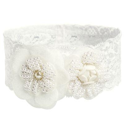 Imagem 2 do produto Faixa renda Flores & Pérolas Marfim - Roana