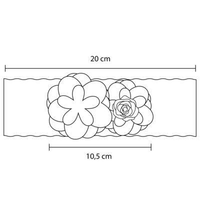 Imagem 3 do produto Faixa renda Flores & Pérolas Marfim - Roana