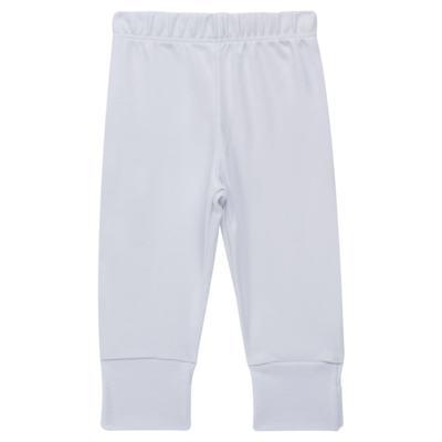 Imagem 1 do produto Calça (mijão) para bebe em cotton touch Branca - Mini Sailor - 83024260 MIJAO PE REVERS AVULSO SUEDINE BRANCO-0-3