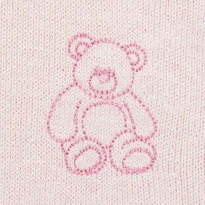 Imagem 3 do produto Macacão c/ golinha para bebe em tricot Bellamy - Petit - 21864279 MACACAO C/ GOLA TRICOT ROSA BEBE-G