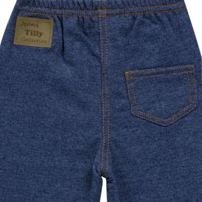 Imagem 2 do produto Calça para bebe em moletinho Azul Jeans - Tilly Baby - TB168010 CALÇA MOLETINHO MASCULINA-P
