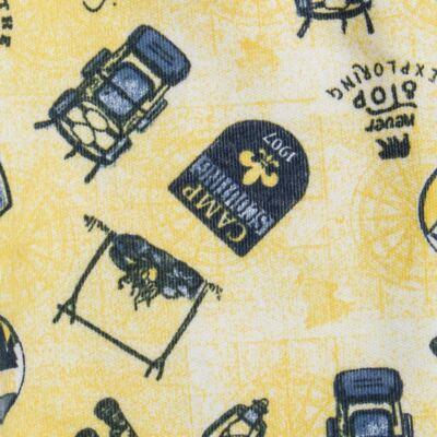 Imagem 3 do produto Pack 2 mijões com pé reversível para bebe em algodão egípcio c/ jato de cerâmica Camp Scouting - Mini & Classic - 10254161 PACK 2 MIJOES PE REVERS. SUEDINE CAMPING-RN