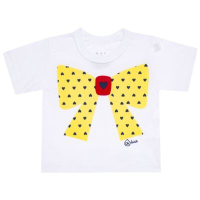 Imagem 2 do produto Conjunto de Banho Coraçõezinhos: Camiseta + Maiô + Tiara - Cara de Criança - KIT 1 1883CCA+M CORACOES-3