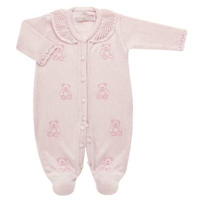 Imagem 1 do produto Macacão c/ golinha para bebe em tricot Bellamy - Petit - 21864279 MACACAO C/ GOLA TRICOT ROSA BEBE-RN