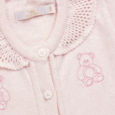 Imagem 2 do produto Macacão c/ golinha para bebe em tricot Bellamy - Petit - 21864279 MACACAO C/ GOLA TRICOT ROSA BEBE-RN