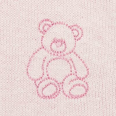Imagem 3 do produto Macacão c/ golinha para bebe em tricot Bellamy - Petit - 21864279 MACACAO C/ GOLA TRICOT ROSA BEBE-RN