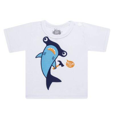 Imagem 2 do produto Conjunto de Banho Tubarão Martelo: Camiseta + Sunga - Cara de Criança - KIT 1 2910: SB2910 + CCA2910 SUNGA BOXER E CAMISETA TUBARAO MARTELO-6
