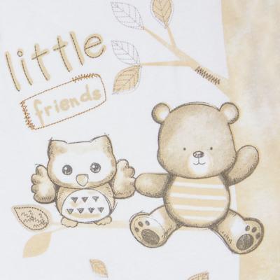 """Imagem 2 do produto Macacão longo c/ abertura """"S"""" para bebe em algodão egípcio Nature Little Friends - Mini & Classic - MCPR650 MACACAO S C/ PE REVERSIVEL SUEDINE NATURE-P"""