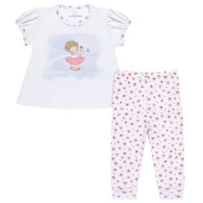 Imagem 1 do produto Pijama curto em malha Flowers - Dedeka - DDK17074/E132 Pijama Ribana Floral -M