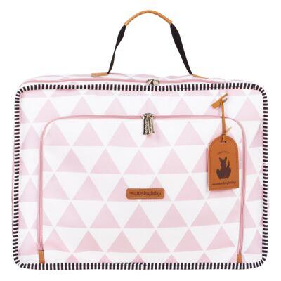 Imagem 2 do produto Mala maternidade Vintage + Bolsa 4 em 1 Sofia + Frasqueira térmica Vicky Manhattan Rosa - Masterbag