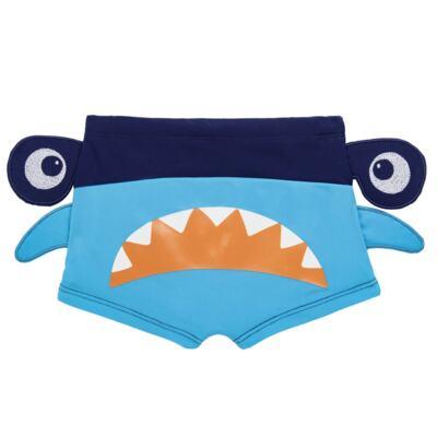 Imagem 3 do produto Conjunto de Banho Tubarão Martelo: Camiseta + Sunga - Cara de Criança - KIT 1 2910: SB2910 + CCA2910 SUNGA BOXER E CAMISETA TUBARAO MARTELO-4