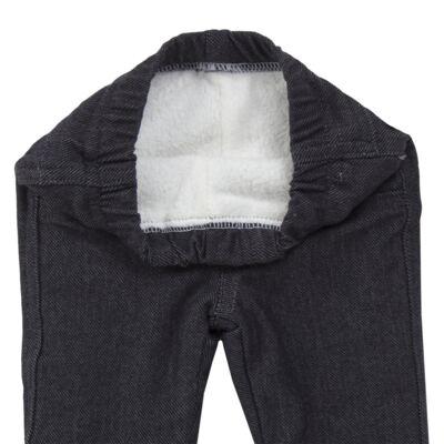 Imagem 5 do produto Calça para bebe forrada em fleece & pelúcia Dark Denim - Mini & Classic - CLCF4169 CALÇA C/ FORRO FLEECE/ MAL PUG-2