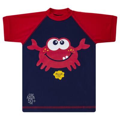 Imagem 2 do produto Conjunto de Banho Caranguejo: Camiseta surfista + Sunga - Cara de Criança - KIT 2 2903: SB2903 + CSA2903 SUNGA E CAMISETA CARANGUEIJO-4