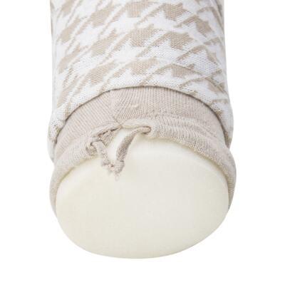 Imagem 10 do produto Kit Berço: Rolinhos Laterais + Rolinho Cabeceira + Manta + Segura nenê Pied Poule Caqui - Petit