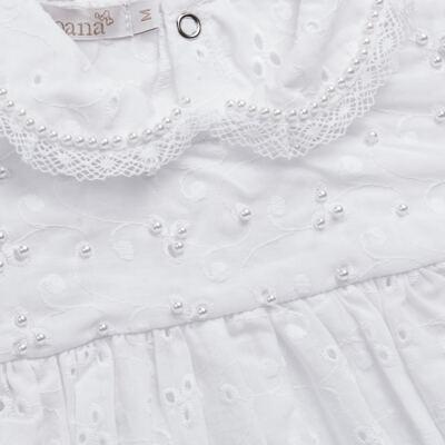 Imagem 2 do produto Macacão curto para bebe em laise Pérolas Deluxe - Roana - PIML0927001 PIMPAO LUXO BRANCO -G