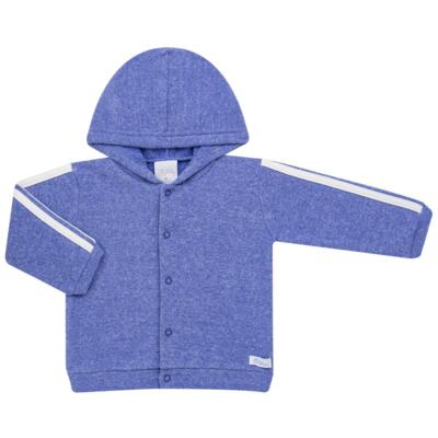 Imagem 2 do produto Casaco c/ capuz e Calça para bebe em soft Azul - Tilly Baby - TB0172020.09 CONJ. CASACO COM CALÇA SOFT AZUL-GG