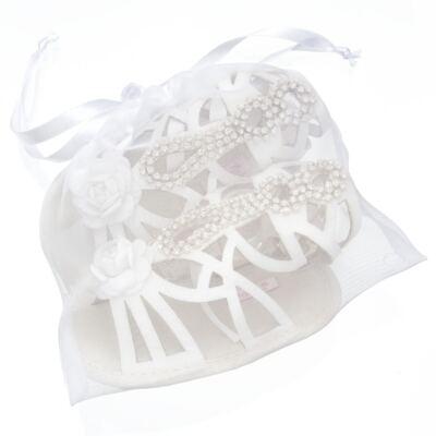 Imagem 5 do produto Sandália Gladiadora para bebe Flor & Strass - Roana - GLA00003031 SAPATILHA GLADIADORA MARFIM-RN
