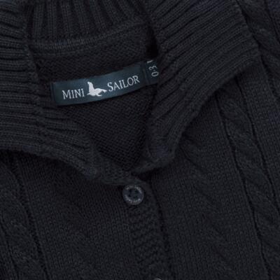 Imagem 2 do produto Casaquinho para bebe em tricot trançado Marinho - Mini Sailor - 75464262 CASAQUINHO C/GOLA TRANÇADO TRICOT MARINHO-6-9