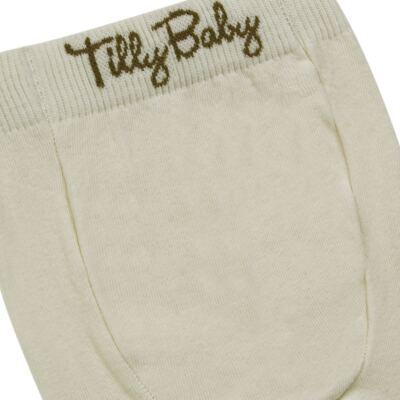 Imagem 3 do produto Meia-Calça para bebe em algodão Bege - Tilly Baby - TB172031.02 ACESSORIO MEIA UNISSEX BASICA BEGE-P