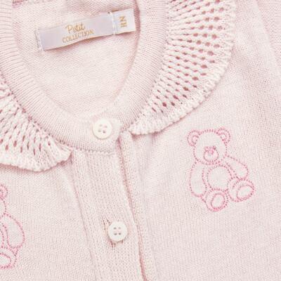 Imagem 2 do produto Macacão c/ golinha para bebe em tricot Bellamy - Petit - 21864279 MACACAO C/ GOLA TRICOT ROSA BEBE-P