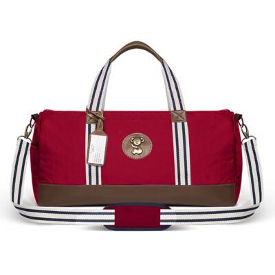 Imagem 2 do produto Bolsa Passeio p/ bebe + Bolsa Melbourne + Térmica Brisbane + Necessaire + Trocador + Porta Mamadeira sarja Adventure Vermelha - Classic for Baby Bags