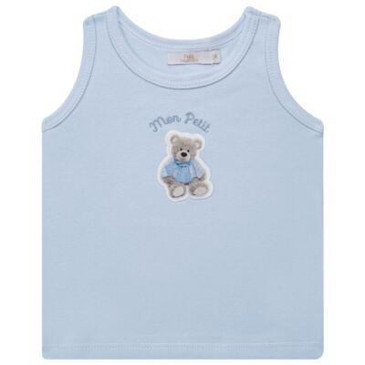 Imagem 2 do produto Regata c/ Cobre fralda para bebe em algodão egípcio Chevalier - Petit - 17944167 CONJ REGATA C/ COBRE FRALDA SUED/VISCO URSO -G