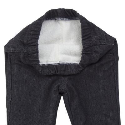 Imagem 5 do produto Calça para bebe forrada em fleece & pelúcia Dark Denim - Mini & Classic - CLCF4169 CALÇA C/ FORRO FLEECE/ MAL PUG-P
