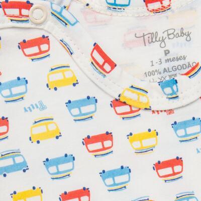 Imagem 3 do produto Kits 2 Bodies curtos para bebe em malha Carrinhos - Tilly Baby - TB16813 BODY MC MASC 2 PÇS CARRINHOS-GG