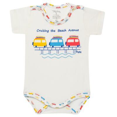 Imagem 4 do produto Kits 2 Bodies curtos para bebe em malha Carrinhos - Tilly Baby - TB16813 BODY MC MASC 2 PÇS CARRINHOS-GG